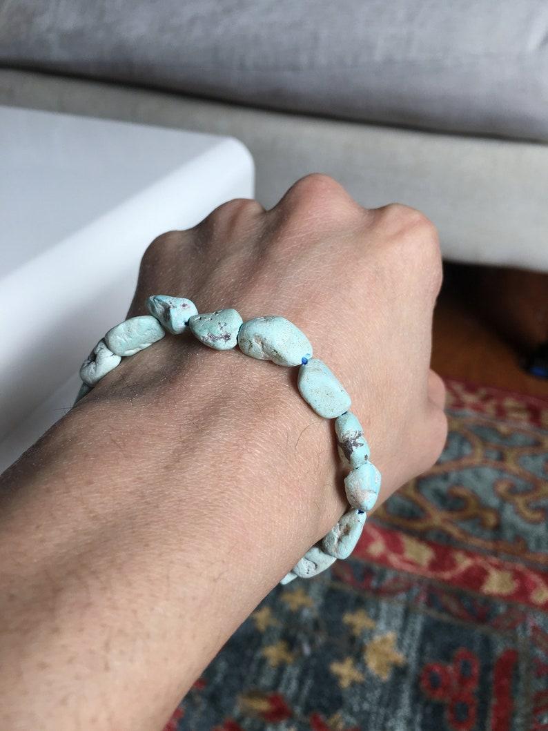 Natural Arizona Brain Turquoise Bracelet 64.5 CT