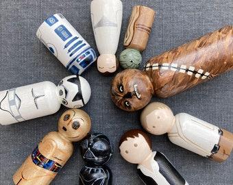Star Wars Handpainted Wooden Peg Dolls