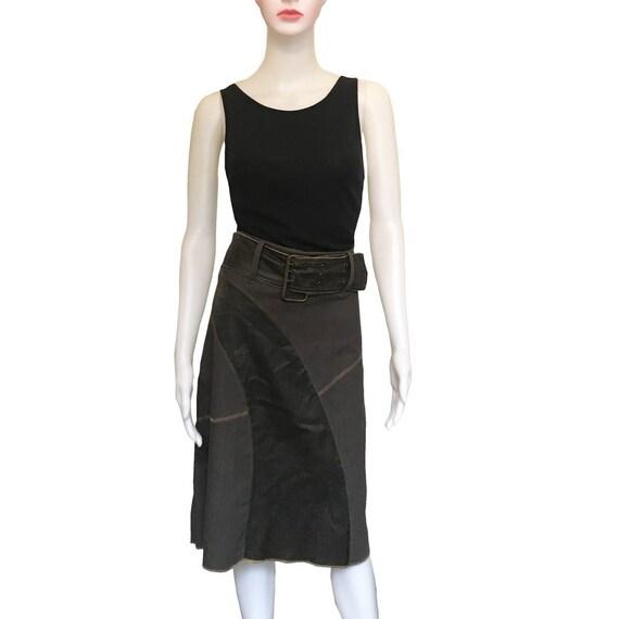 Vintage 1990s Solo Paris Denim Patchwork Skirt