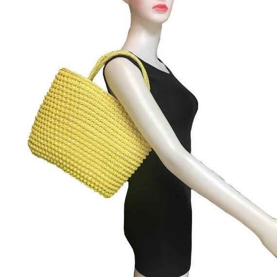 Vintage 1950s Beaded Top-Handle Bag