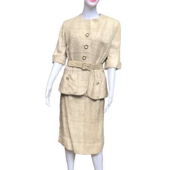 Vintage 1940s Henry Harris Tweed Wool Skirt Suit