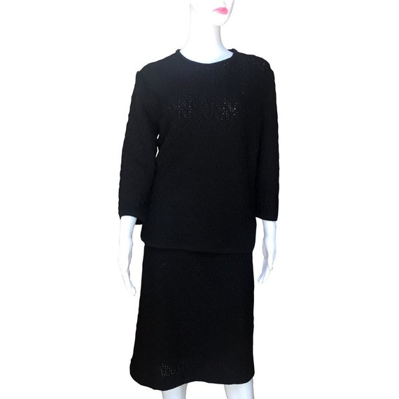 Vintage 1960s Shillito's Wool Sweater Skirt Suit