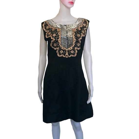 Vintage 1960s Little Black Dress With Sequins And Open Back Etsy