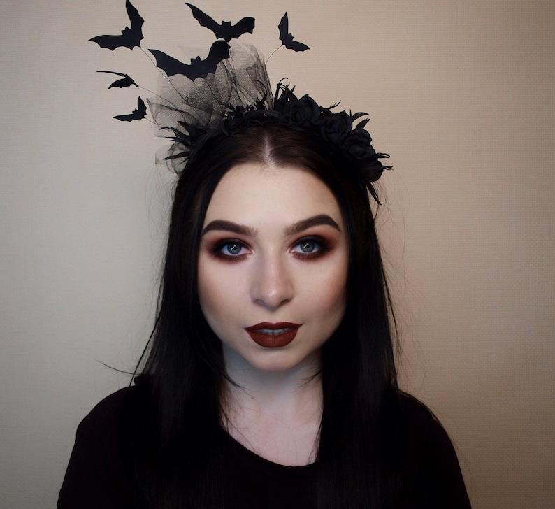 Vampire headpiece Bat headband for woman and girl. Vampire image 0