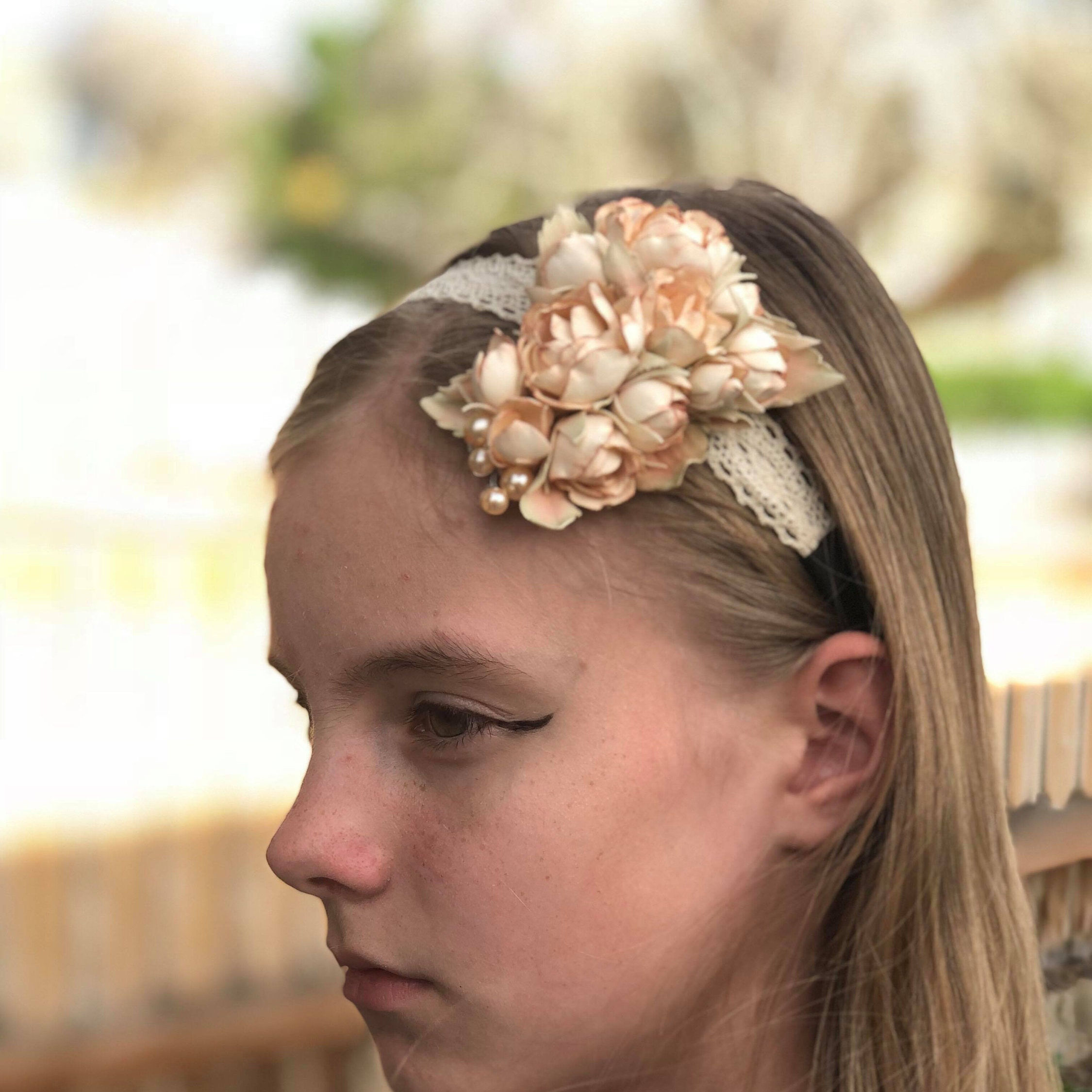 Wedding Headpiece Flower Girl Flower Crown Hair Accessories Etsy