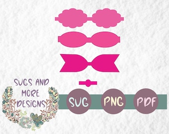 Hair Bow Svg Etsy