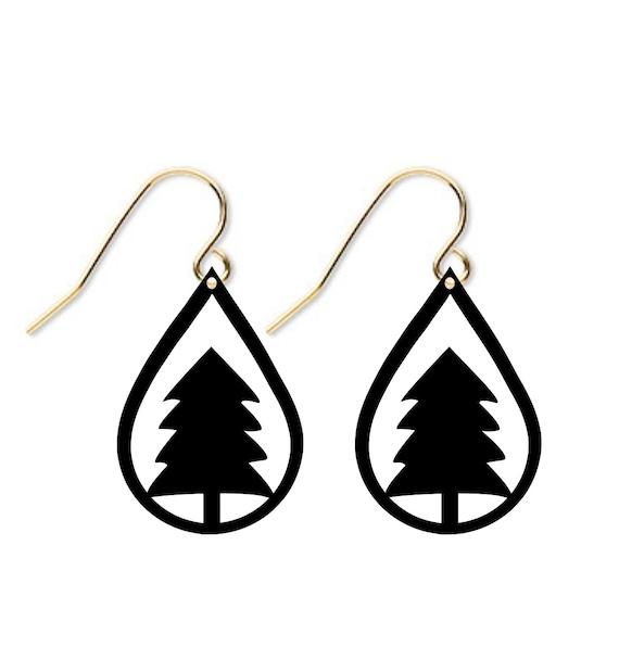 Christmas Tree Earring Svg File Fall Svg Leather Earring Template Leather Earring Svg Cricut Silhouette Cameo Svg File Diy Earrings