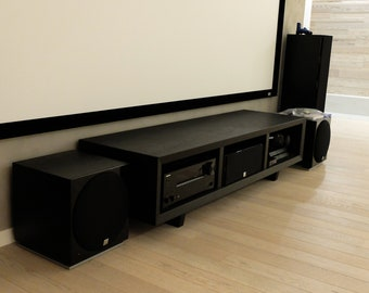 Solid oak TV stand / media console