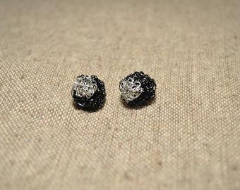 Crochet handmade wire earrings