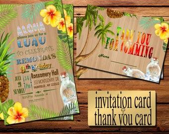luau invitations etsy