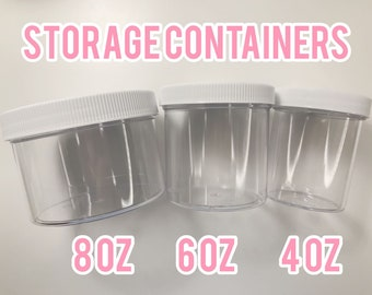 4/6/8 oz Containers / Jars for Crafts , Slime or Storage (ULINE Style)