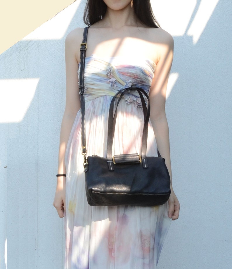 Soft Leather Tote black