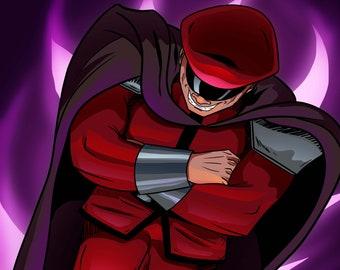 M BISON - Street Fighter art print