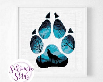 Wolf Footprint Etsy
