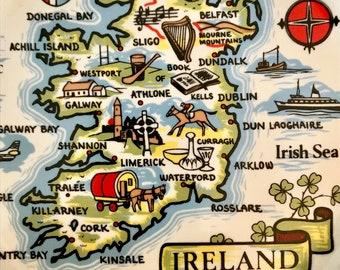 Ireland Map Decorative Plate Carrigcraft Carrigaline County Cork Ireland