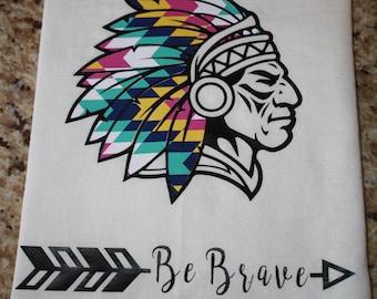 Kitchen Towel, Dish Towel, Flour Sack Towel - Be Brave