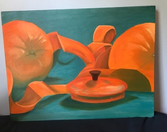 18 x 24 orange is the new black oil painting