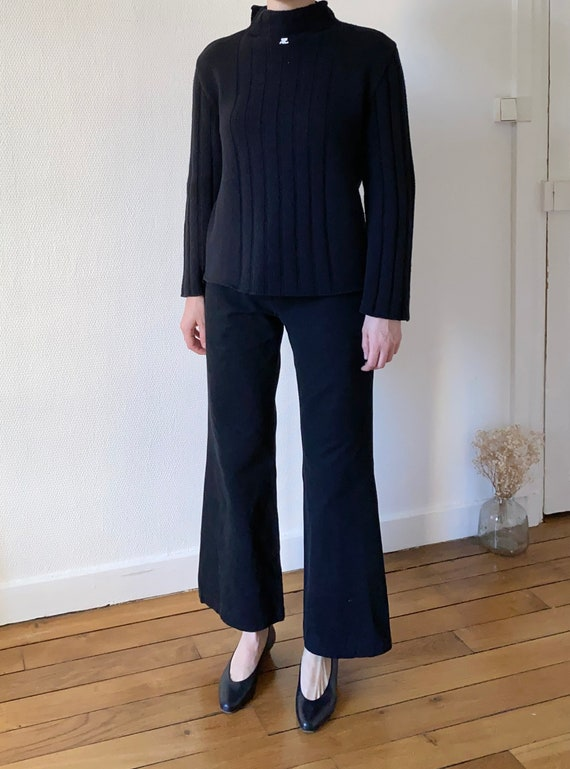 APC black cotton flare pants medium