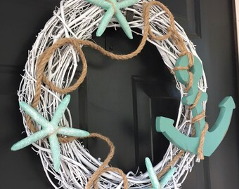 Beach Anchor Wreath