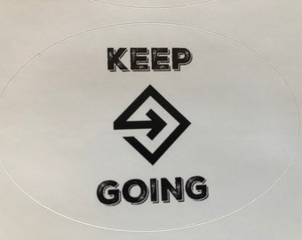 Keep Going Hard Hat Sticker