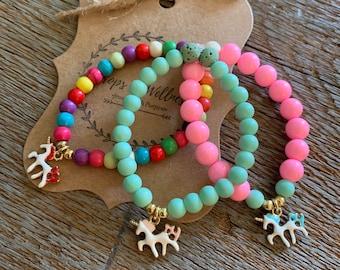 Children's Essential Oil Diffuser Bracelet// Kids Diffuser Jewelry// Girls Diffuser Bracelet// Unicorn Bracelet// Handmade//Kids Diffuser