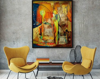 Wohnzimmer wand kunst | Etsy