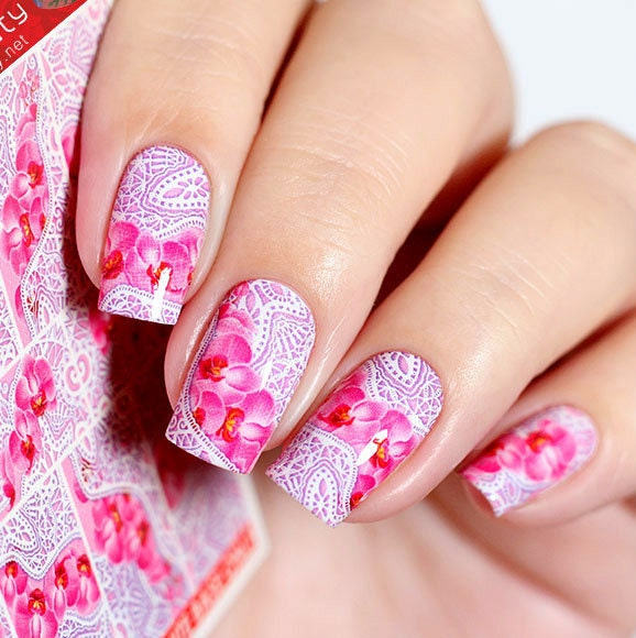 Nail Art Supplies New Zealand: Lace Nail Decals Flowers Nail Stickers Flowers Nail Art