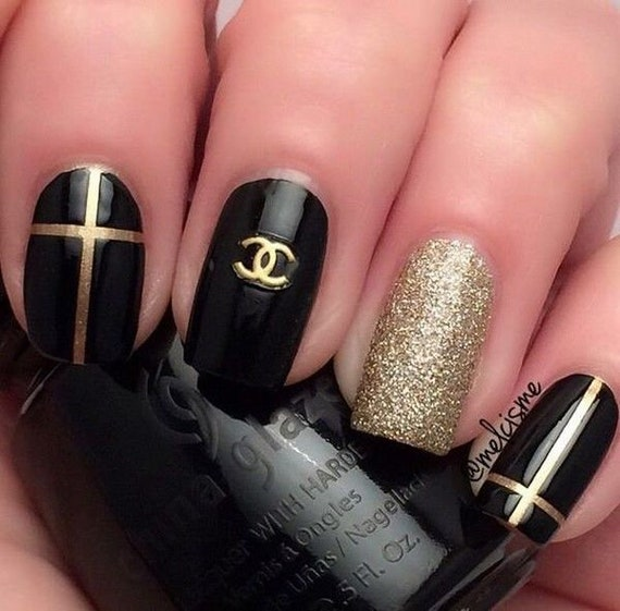 Gold Metal Inspired By Louis Vuitton 3d Nail Art Decoration Etsy