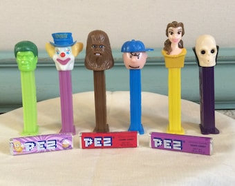 Vintage Pez dispensers, movie and tv group