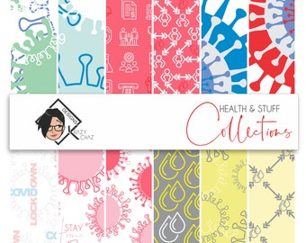Health & Stuff Collection of 12 patterned Papers