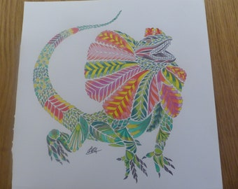 Dragon Alert coloured by Annie (Millie Marotta)