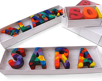 Name Crayons: Clear Top Box Letter Crayons