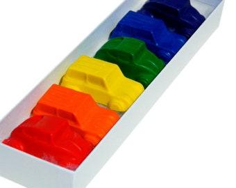 Car Crayons: Rainbow Crayons- Cars for Coloring