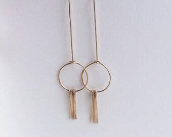 Brass Geometric Minimal Earrings