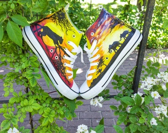 hand-painted sneakers