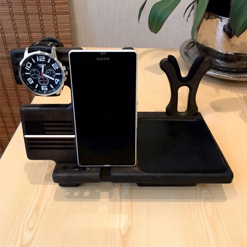 Docking Station Men And Nightstand Organizer For Gun With