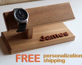 dbb30d9430f Watch holder for men - wooden man s wrist watch organizer. Watch display (watch  stand).