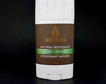 Key Lime + Bergamot Natural Deodorant