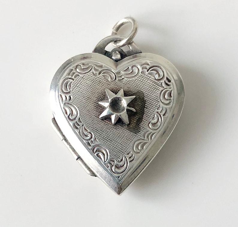 Miniature Heart Keepsake Locket Sterling Silver Locket Petite Heart Shaped Locket