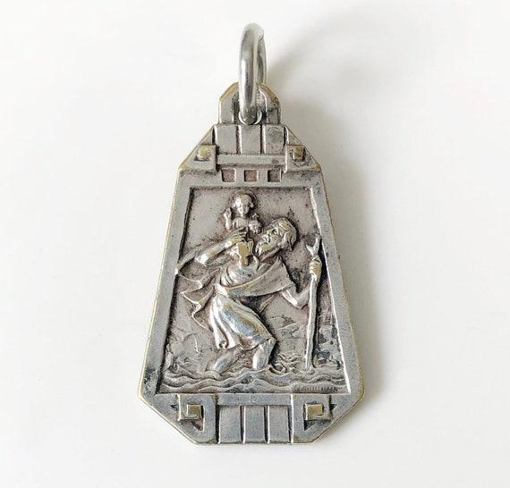 Sterling Silver Saint Christophe Médaillon Charm Pendentif