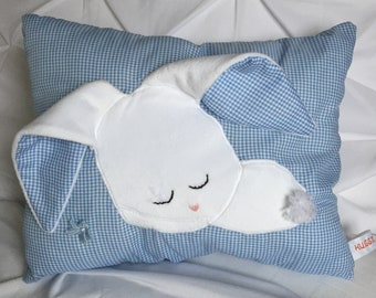 Sleepy Bunny Pillow (Blue)