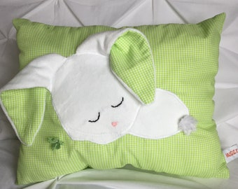 Sleepy Bunny Pillow (Green)