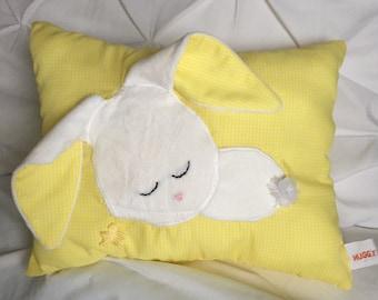 Sleepy Bunny Pillow (Yellow)