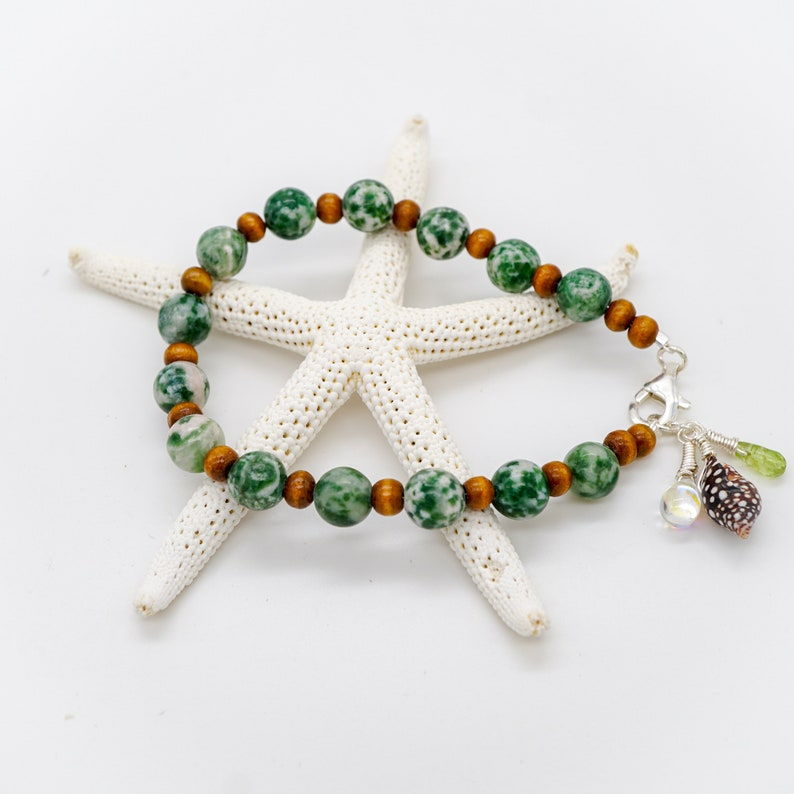 Island Shell Bracelet Jasper Stone & Wood bracelet Natural image 0