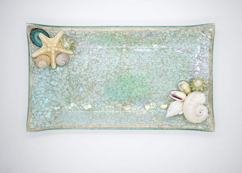 Salt Life Tropical Dish Seashell Decorative Tray Beach Tray Tray 1