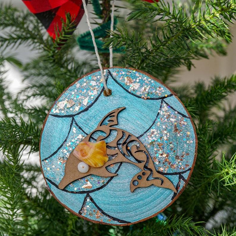 Sea Animal Decoration for Christmas Tree Tropical Ornament Dolphin