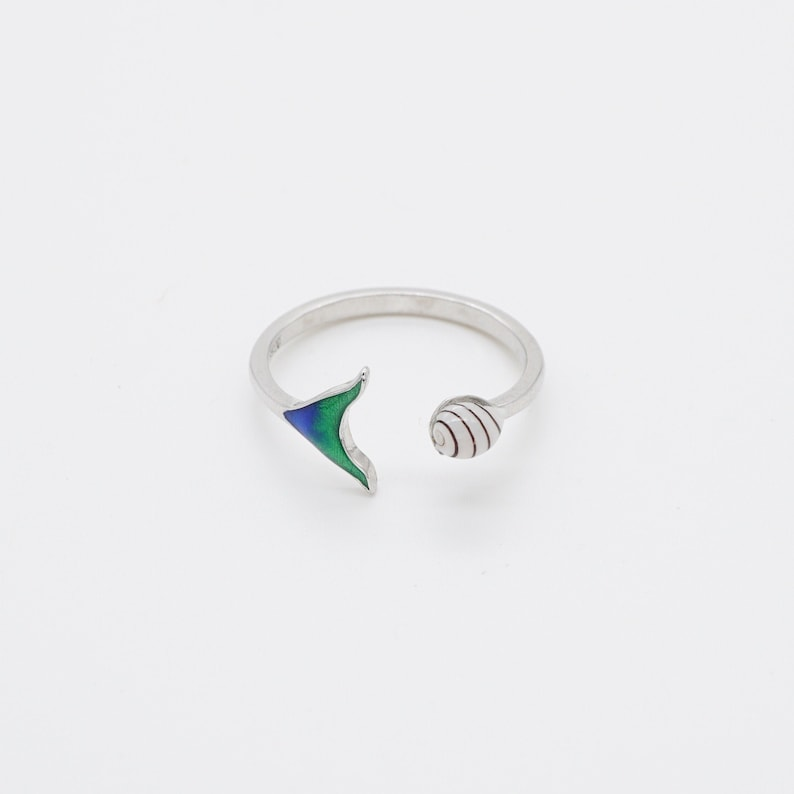 Sterling Silver Tropical Shell Ring Sea Shell Ocean Decor image 0