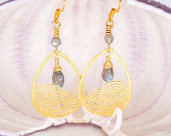 Over the Rainbow Earrings, Rainbow Jewelry Gemstone Earrings, Boho Chic Hawaiian Style Jewelry, Bohemian Chic Earrings Whimsical Jewelry