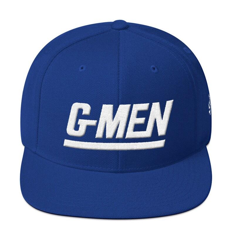 56017de7f2373 G-Men Snapback Hat Royal Blue ...