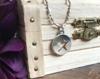 Star charm youth necklace, A Very Fairy Door, fairy door, necklace
